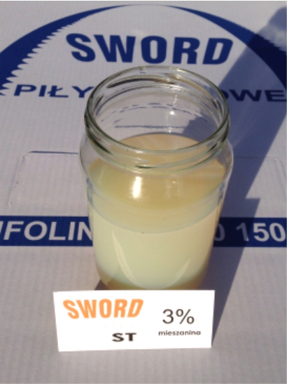 Płyn chłodząco - smarujący wspomagający cięcie metalu - mieszanina 3%