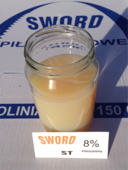 Płyn chłodząco - smarujący wspomagający cięcie metalu - mieszanina 8%